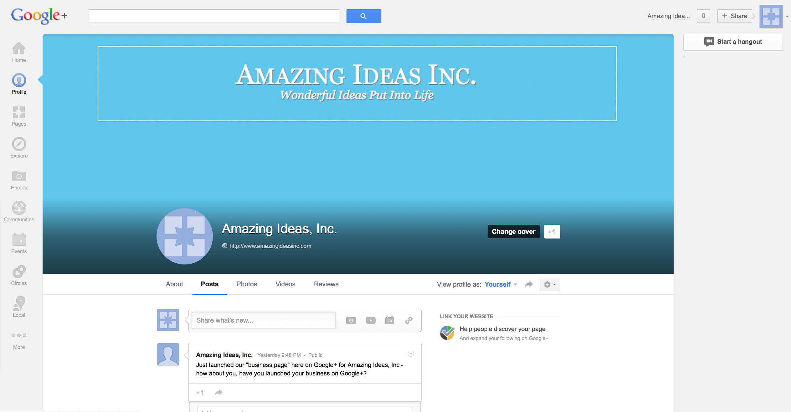 Amazing Ideas GooglePlus
