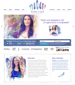 Example of female characteristics of a website