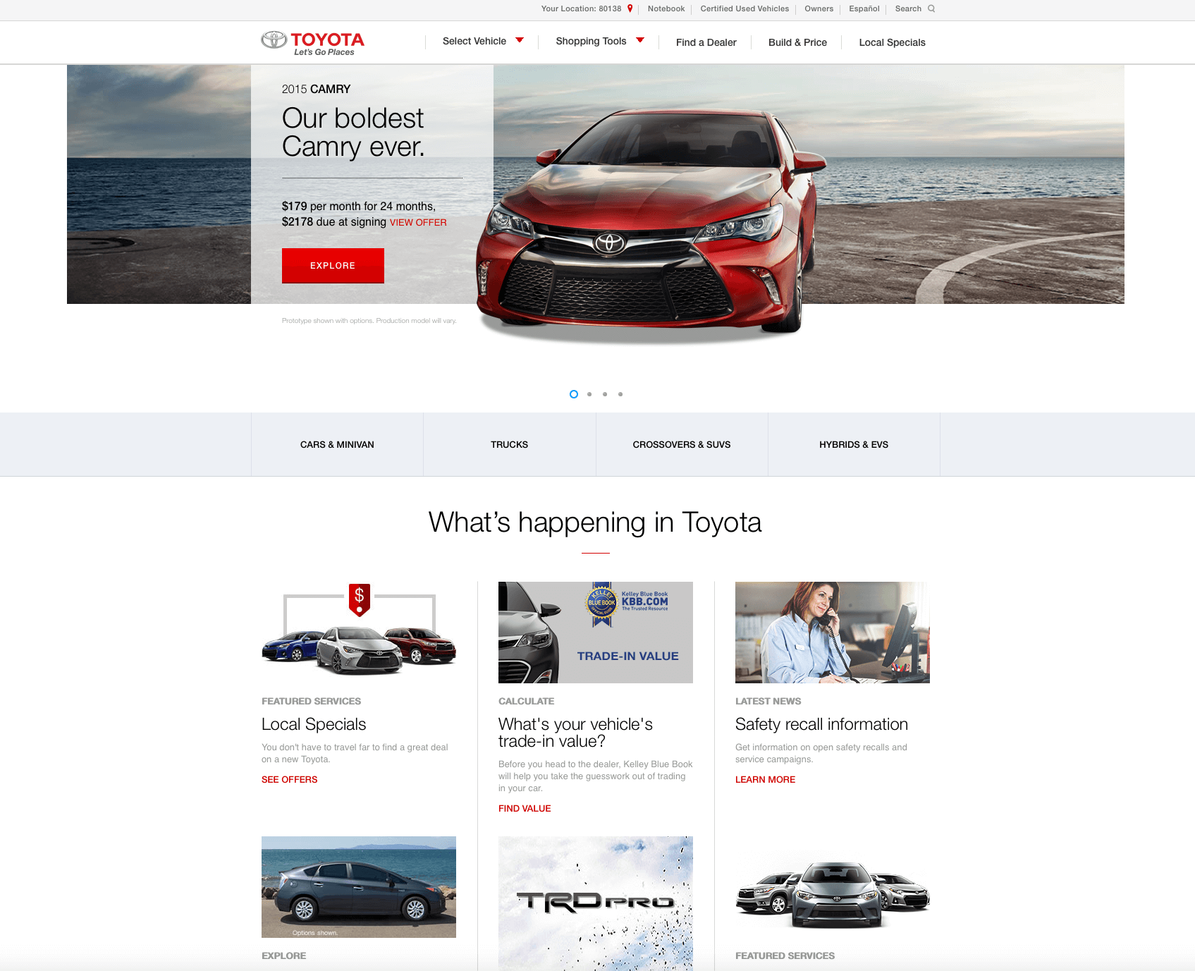 Example of Car Website